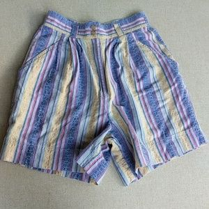 Vintage 90s Mom Shorts 26 in Pleats High Waist 8